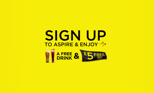 Sign up to Aspire and enjoy a £5 Free Table Bet